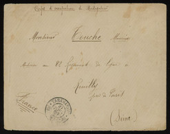 Madagascar CORPS D'OCCUPATION 1898 Cover To France, Tananarive Postmark On Front And Arrival On Back, Uncommon - Lettres & Documents