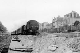 Le Parc-Saint-Maur. Locomotive 131 TB 23. Cliché Jacques Bazin-20-07-1956 - Trains