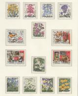 FINLAND USED MICHEL 1256/65 & 1270/73 WEISENBLUMEN & Jugendhobbys - Used Stamps