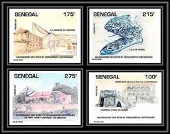 92730b Sénégal N°1104/1107 Sauvegarde Monuments Historiques Cultural UNESCO Gorée 1994 Non Dentelé ** MNH Imperf - Senegal (1960-...)