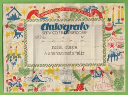 História Postal - Filatelia - Serviço Telegráfico - Autógrafo Telegrama Natal Christmas Noel Telegram Philately Portugal - Briefe U. Dokumente
