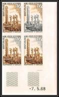 93707b Cote D'ivoire N°271 Rafinerie D'abidjan 1968 Petrole Refinery Oil Coin Daté Essai Proof Non Dentelé Imperf ** MNH - Aardolie
