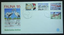 FDC - Oiseaux, Faune, Phénicoptères, Flamants Roses, Antilles Néerlandaises (Flamingo - Netherlands Antilles) - Flamingo