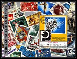 Nord Yemen YAR - 3584/ Bloc N°140 Upu Philympia London 1970 ** MNH Jeux Olympiques Olympic Games 1924 Non Dentelé Imperf - Yemen