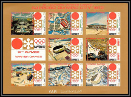 Nord Yemen YAR - 3623z N°1258/1264 B Jeux Olympiques (olympic Games) Winter Sapporo 1972 ** MNH Non Dentelé Imperf - Yemen