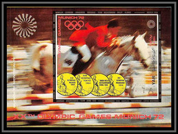 Nord Yemen YAR - 3636/ Bloc 176 B Non Dentelé Imperf Jeux Olympiques Olympic Game Munich** MNH Show Jumping Cote 18 - Summer 1972: Munich