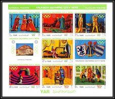Nord Yemen YAR - 3638z/ N°1319/1326 B Jeux Olympiques Olympic Games Munich 1972 Non Dentelé Imperf ** MNH - Yemen