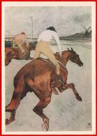29263 Toulouse Lautrec Jockey Rider Jockey Riding Horse Racing Windmill Windmill 1969 USSR Soviet Card Clean - Windmolens