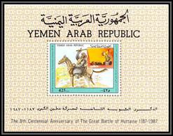 Nord Yemen YAR - 3942/ Bloc N°249 Saladin Sultan Of Egypt 800th Anniversary Of The Battle Of Hattin 1987 Neuf ** MNH - Yemen