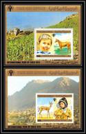 Nord Yemen YAR - 3943/ Bloc N°199/200 Year Of The Child Enfant 1980 Horse Cheval Gazelle Animals Animaux Neuf ** MNH - Yemen