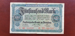 Ro SAX 14 5000 Mark 1923   /21.10 - [11] Local Banknote Issues