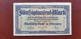 Ro SAX 16 50000 Mark 1923   /21.10 - [11] Local Banknote Issues