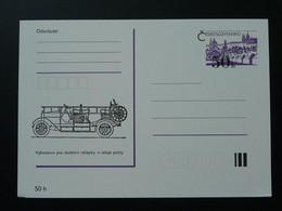 Entier Postal Stationery Card Véhicule De Pompier Firefighting Car Tchecoslovaquie Ref 65839 - Voitures