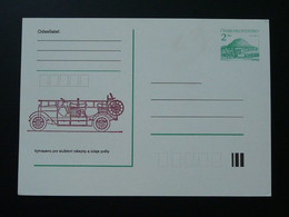Entier Postal Stationery Card Véhicule De Pompier Firefighting Car Tchecoslovaquie Ref 65850 - Sapeurs-Pompiers