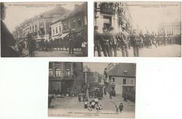"""""""8 Cartes"""" Obséques Du Lieutenant LAUTOUR Du 5ème Dragon De Compiègne, Le 20 Avril 1906 Lens (62) - Lens"""
