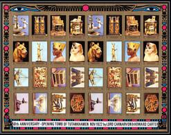 Ajman - 2767d/ N°1276/1295 A Neuf ** MNH Tutankhamun's Tomb Toutânkhamon 1972 Egypte Egypt Feuille Complete (sheet) - Ajman
