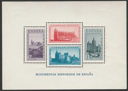 1938 Monumentos Históricos. Hojita. Edifil 847 - 1931-50 Nuovi