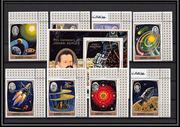Ajman - 4743 N°991/998 Bloc 297 A Espace Space Research 1971 Copernicus Kepler Galilei Newton Da Vinci Neuf ** MNH - Ajman