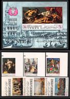 Yemen Royaume (kingdom) - 4236b N°510/515 B Bloc 82 UNESCO 1968 Venise Tableau Paintings Neuf ** MNH Non Dentelé Imperf - Religious