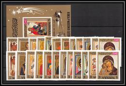 Yemen Royaume (kingdom) - 4284/ N°915/926 A/B + Bloc 183 B Christmas Noel Tableau Paintings Noel 1969 Neuf ** MNH - Yemen