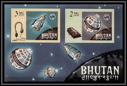 Bhutan (Bhoutan) - 3197 Yvert Bloc N°4 B 1965 Espace (space) Union Des Télécommunications Uit ** MNH Non Dentelé Imperf - Bhutan
