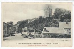 Le Chateau De Tancarville , Omnibus De Dion Bouton Des Cie Des Méssageries Automobiles - Tancarville