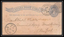 3223/ Canada Entier Stationery Carte Postale (postcard) N°8 1 Cent Blue 1883 - 1860-1899 Regno Di Victoria