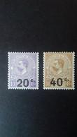 MONACO  TAXE N° 11/12  ** - Unused Stamps