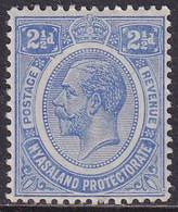 NYASALAND PROTECTORATE 1913 SG #89 2½d MLH - Nyasaland (1907-1953)