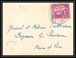 1767 Lettre (cover) N°281 Type Paix Herault Pour Bagneux Lès Saumur Seul - 1921-1960: Periodo Moderno