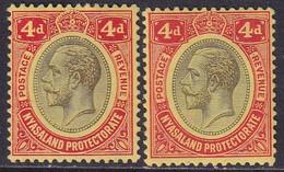 NYASALAND PROTECTORATE 1913 SG #91,a 4d MH CV £8.50 Wmk Mult.Crown CA On Both Papers - Nyasaland (1907-1953)