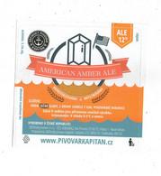 Czech Republic - Minibrewery In City Decin, American Amber Ale Beer, Self-adhesive Label - Birra