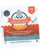 Czech Republic - Minibrewery In City Decin, Single Hop IPA Beer, Self-adhesive Label - Birra