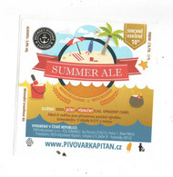 Czech Republic - Minibrewery In City Decin, Summer ALE  Beer, Self-adhesive Label - Birra
