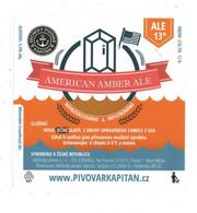Czech Republic - Minibrewery In City Decin, Dark American Amber ALE Beer , Self-adhesive Label - Birra