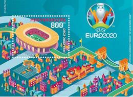 HUNGARY, 2021, MNH,FOOTBALL, EURO 2020, S/SHEET - Eurocopa (UEFA)