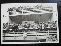 Propaganda Postkarte 3. Reich Turnfest Stuttgart 1933 Hitler Goebbels Papen - Brieven En Documenten
