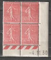 France Coin Daté N° 199 * 04/01/1930 Semeuse Lignée - 1930-1939