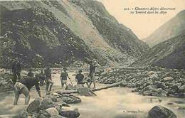 06 - Alpes Maritimes - Chasseurs Alpins Détournant Un Torrent Dans Les Alpes - Animée - Militaria - CPA - Voir Scans Rec - Other Municipalities