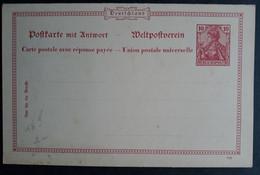 DR Ganzsache P48-02 (b-d) DV 999, Doppelkarte, Ungelaufen (1868) - Stamped Stationery