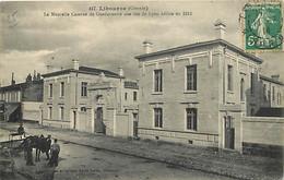 33 - Libourne - La Nouvelle Caserne De Gendarmerie Sise Rue De Lyon édifiée En 1912 - Animée - Oblitération Ronde De 191 - Libourne