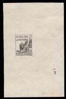 ALGERIA (1923) Allegory Of Victory. Die Proof On Thin Paper. Un Seul But - La Victoire. Scott No 164. - Sonstige