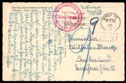 "AUSTRIA (1942) Strauss. Red Circular Steampship Cancel On Postcard Depicting Ship: ""Dampfer Johann Strauss"" - Sonstige"