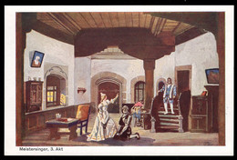 BAVARIA (1911) Scene From Meistersinger. 5 Pf Postal Card (N) With Scene From Act III Of Richard Wagner's Opera. - Bayern