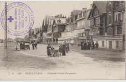 CPA  Berck Plage   (62) Promenade Sur L'Esplanade Oswald Parmentier Avec Cachet Hopital Auxilliaire Croix Rouge - Berck