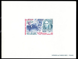 BENIN (1977) Newton. Heavenly Bodies. Deluxe Sheet. Scott No C276, Yvert No PA280. - Benin – Dahomey (1960-...)