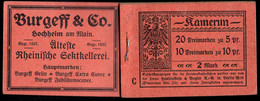 CAMEROUN (1906) Booklet Of 30 Stamps With Advertising Inserts. Musical Instruments. Shoes. Cigars. Bellows Camera, Etc - Kolonie: Kamerun