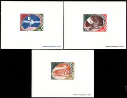 CHAD (1977) Mariner X. Luna XXI. Viking. Set Of 3 Deluxe Sheets. Scott Nos C220-2. - Ciad (1960-...)