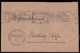 GERMANY (1943) Walther Von Der Vogelweide. Illustrated Roller Cancel On Soldier's Free Letter. - Briefe U. Dokumente