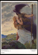 GERMANY (1933) Wotan And Brunhilde. 6 Pf Himmler Postal Card With Scene From Der Nibelungenring. - Privatpost